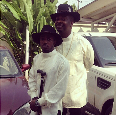 Tunde Ednut and Don Jazzy