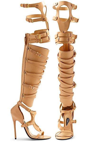 Nude Tom Ford Buckle Sandals